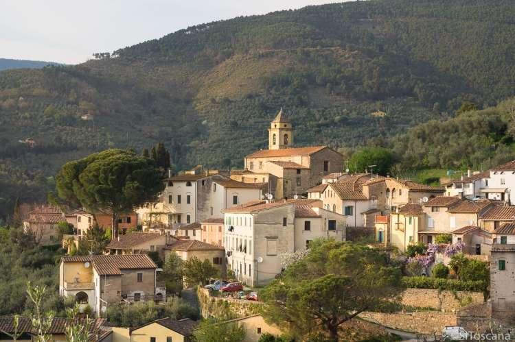 Bildet er fra landsbyen Montemagno. Pisa, Toscana, Italia.