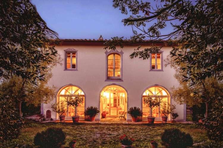 Bildet viser eksklusivt feriehus mellom Pisa og Firenze i Toscana.